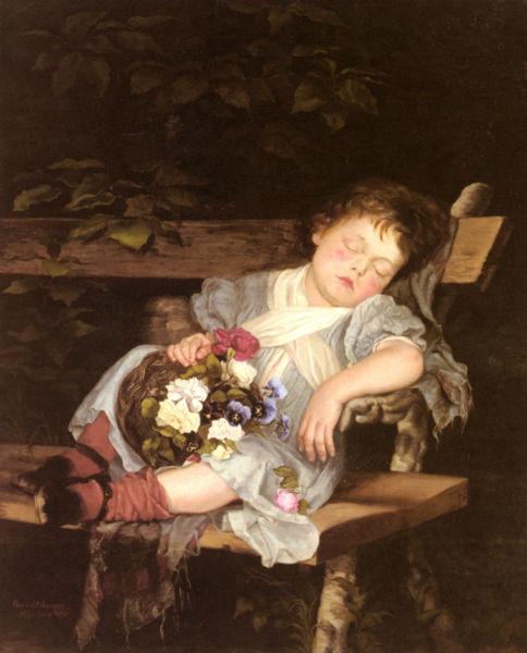 Biografia y Obras de los Pintores de la Hermandad Prerrafaelita - I 484px-Marianne_Stokes_Sweet_Dreams