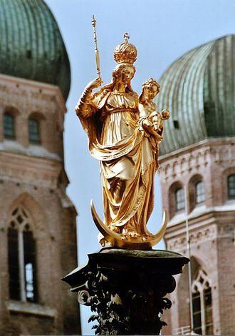 Munich - Mariensäule at Marienplatz