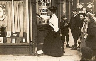 May Sinclair - Image: Mary Sinclair entering Kensington Women's Social & Political Union shop