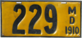 Maryland license plate, 1910.png