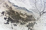 Mashhad from space, January 2003