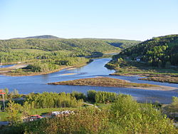 Confluence of Matapédia and Restigouche Rivers