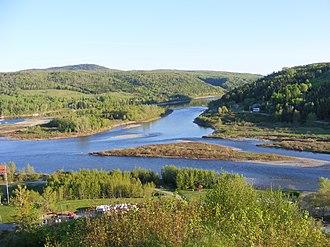 Matapédia, Quebec - Confluence of Matapédia and Restigouche Rivers