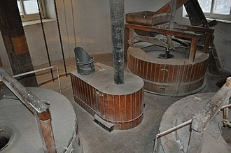 Maud Foster Windmill - The grinding floor in 2011