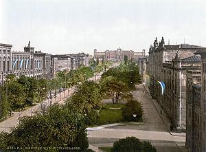 Maximilianstraße (Munich) - Maximilianstraße, ca 1900