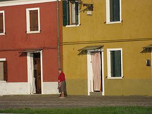 Mazzorbo - Colourful houses on Mazzorbo, similar to those on Burano