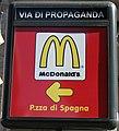 McDonald's advertising, Via Propaganda - Rome.jpg