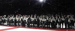 Civic Arena (Pittsburgh) - Pittsburgh Penguins past and present were honored during a pregame ceremony prior to the final regular season game at Mellon Arena, April 8, 2010.