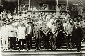 National Council of Georgia - Members of the National Council of Georgia, after declaring independence of Georgia, Tbilisi May 26, 1918
