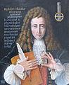 Memorial portrait of Robert Hooke with a barometer.JPG