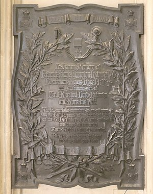Frederick Hugh Sherston Roberts - Memorial in Winchester Cathedral