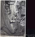 Mending fishing nets in Japan - watching Grand-Dad mend his net (1914 by Elstner Hilton).jpg