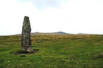 Merrivale, Devon - Menhir (Standing stone) at Merrivale