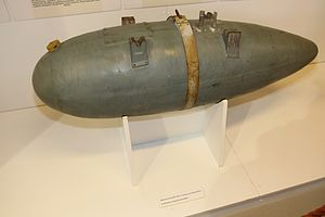 Drop tank - A standard 300 litre capacity drop tank of the German WW II Luftwaffe
