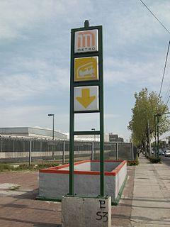 Metro Hangares Mexico City metro station