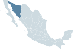 Location within Mexico
