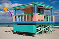 Miami - Lifeguard tower and flags - 0526.jpg