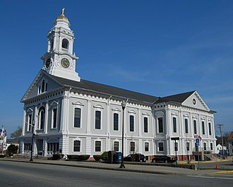 Milford, Massachusetts - Image: Milford Mass Town Hall