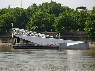 Tate Britain - Millbank Millennium Pier outside Tate Britain, which is linked by a high-speed boat to Tate Modern
