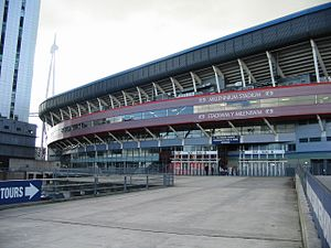 Wales national football team - The Millennium Stadium in Cardiff
