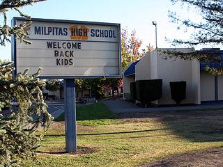 Milpitas High School Public school in Milpitas, California, United States