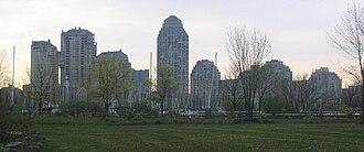 Humber Bay - Condominium towers on Humber Bay