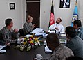 Minister Atmar talks with Brig. Gen. Anne MacDonald and NTM-A and MoI leaders (4577956204).jpg