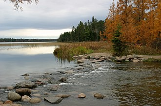 Itasca State Park - The headwaters of the Mississippi River in Itasca State Park