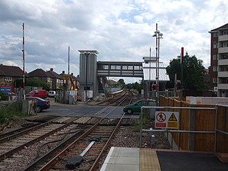 Mitcham Eastfields railway station - Image: Mitcham Eastfields stn northbound look south