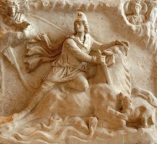 La Morale du Mithraïsme Mithras tauroctony Louvre Ma3441b