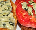 Mmm... blue cheese n tomato on toast (4833144436).jpg