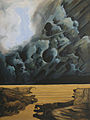 Moisa, Christodoulos. Titled Storm over the Waitemata, oil on board, painted 1977..jpg