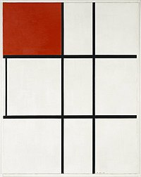 Mondrian - Composition B (No.II) with Red, 1935.jpg