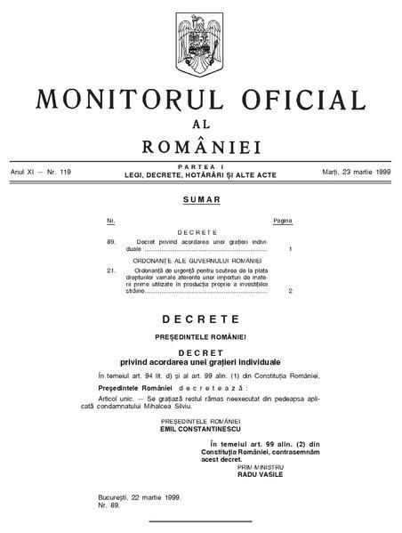 File:Monitorul Oficial al României. Partea I 1999-03-23, nr. 119.pdf