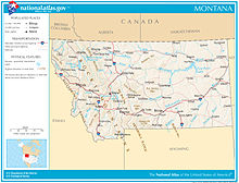Montana Wikipedia - Montana state usa map