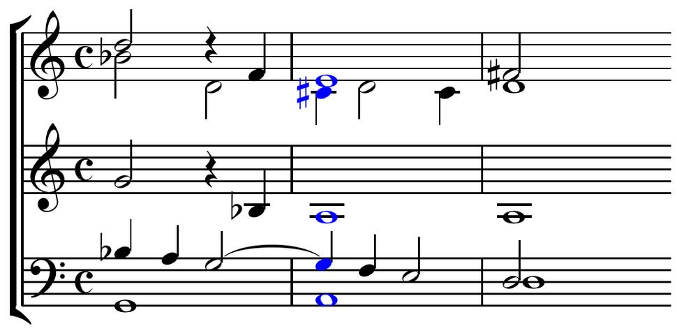 Monteverdi Lamento d%27Arianna dominant seventh