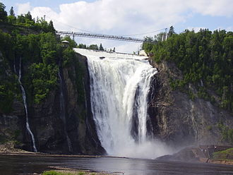 Beauport, Quebec City - The Montmorency River and Falls form the eastern boundary of Beauport.
