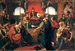 Attila - Mór Than's painting The Feast of Attila, based on a fragment of Priscus