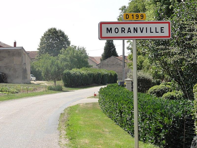 Moranville (Meuse) city limit sign