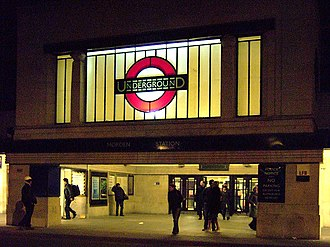 Morden - Morden Underground - main station entrance