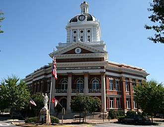 Morgan County, Georgia - Image: Morgan County Courthouse 2008