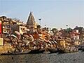 Morning bathers at Ganges Ghats, Varanasi.jpg