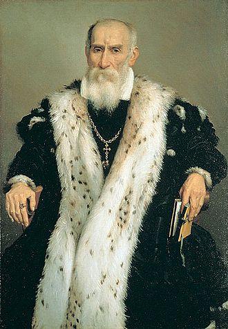Gian Girolamo Albani - Portrait of cavaliere aurato di casa Albani by Giovanni Battista Moroni.
