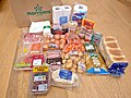 "Morrisons ""meat eaters"" basic food parcel to feed two people for one week.jpg"