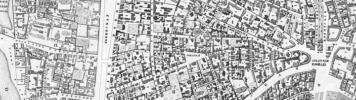 Арбата на карте 1853 года.