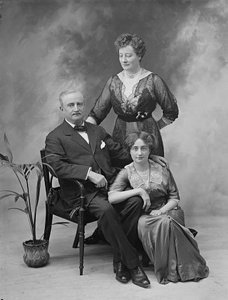 John Redmond - Studio portrait of Mr and Mrs Redmond and (possibly) Johanna Redmond their daughter. Circa 1914.