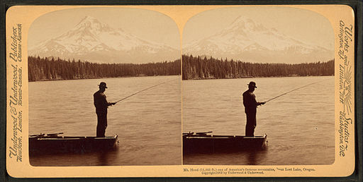 Mt. Hood (11,225 ft.) one of America's famous mountains, from Lost Lake, Oregon, by Underwood & Underwood