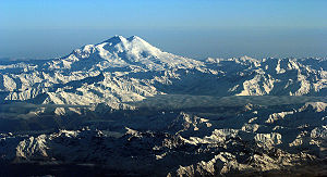 Mount Elbrus - Mount Elbrus and its two peaks