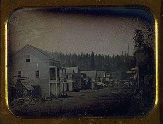 Murphys, California - Daguerreotype of Murphy's, California taken in July 1853.