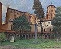 Musée du Vieux Toulouse - Le cloître et l'église des Augustins - Georges Castex 1942 - Inv. T0013.jpg